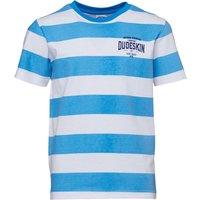 Dudeskin Junior Boys Chest Logo T-Shirt Dazzling Blue