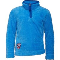 Dudeskin Boys 1/4 Zip Teddy Fleece Azure Blue