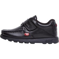 Kickers Infant Boys Fragma Strap Leather Shoes Black