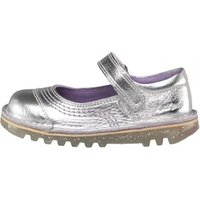Kickers Infant Girls Pop Leather Shoes Silver