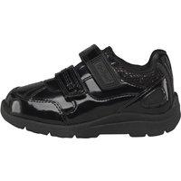 Kickers Infant Moakie Reflex Patent Leather Velcro Strap Shoes Black