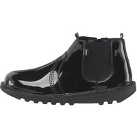 Kickers Youth Patent Leather Chelsea Boots Black
