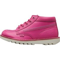 Kickers Junior Girls Joules Kick Hi Leather Boots Pink