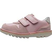 Kickers Infant Girls Kick Glow Velcro Shoes Chalk Pink/White