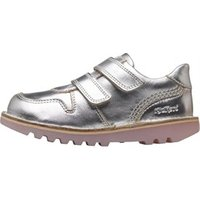 Kickers Infant Girls Glow Velcro Shoes Silver/White