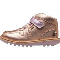 Kickers Infant Girls Kick Glow Hi Boots Rose Gold/Pink