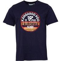 Kangaroo Poo Mens Chest Print T-Shirt Navy