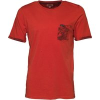 Kangaroo Poo Mens Printed Pocket T-Shirt Red
