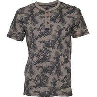 Kangaroo Poo Mens AOP Grandad Neck T-Shirt Charcoal