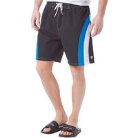 Kangaroo Poo Mens Panelled Swim Shorts Black