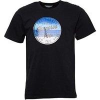Kangaroo Poo Mens Chest Print T-Shirt Black