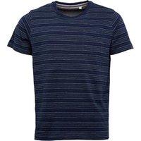 Kangaroo Poo Mens Yarn Dyed Striped T-Shirt Navy