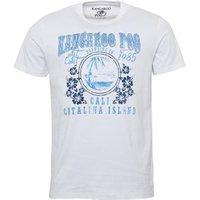 Kangaroo Poo Mens Catalina Island Print T-Shirt White