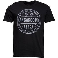 Kangaroo Poo Mens Beach Print T-Shirt Black