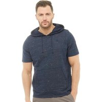 Kangaroo Poo Mens Short Sleeve Grindle Loopback Fleece Hoody Navy