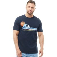 Kangaroo Poo Mens T-Shirt With Chest Print Navy
