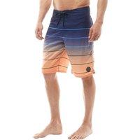 Kangaroo Poo Mens Printed Board Shorts Grey/orange Picture