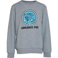 Kangaroo Poo Boys Crew Neck Fleece Sweatshirt Grey Marl