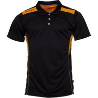 Kukri Mens Performance Polo Black/Amber