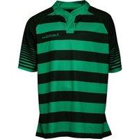 KooGa Mens Touchline Hooped Match Shirt Black/Emerald