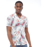 Le Breve Mens Hawaiian Two Short Sleeve Shirt White