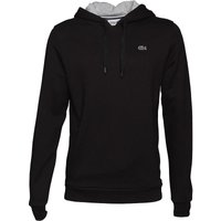 Lacoste Mens Sport Hoody Black/Silver Chine