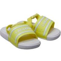 Lacoste Infant Girls L30 Slides Yellow/White