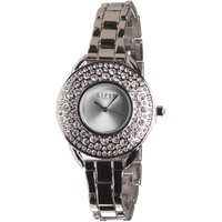 Lipsy Womens Quartz Large Face PU Strap Watch Black