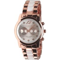 Lipsy Womens Two Tone Ceramic Watch Rose Gold/Silver