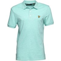 Lyle And Scott Vintage Mens Polo Mint Green Marl