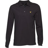 Lyle And Scott Vintage Mens Long Sleeve Polo True Black