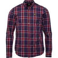 Lyle And Scott Vintage Mens Check Shirt Ruby