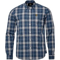 Lyle And Scott Vintage Mens Check Shirt Blue Steel