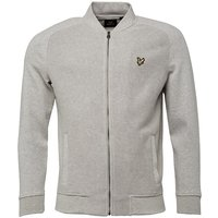 Lyle And Scott Vintage Mens Double Faced Bomber Light Grey Marl