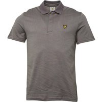 Lyle And Scott Vintage Mens Greenlaw Birdseye Check Polo Slate