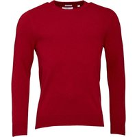 Lyle And Scott Vintage Mens Crew Neck Cashmere 12GG Jumper Ruby