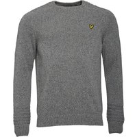 Lyle And Scott Vintage Mens Crew Neck Links Detail 7GG Jumper Mid Grey Marl