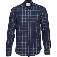 Lyle And Scott Vintage Mens Window Pane Check Shirt Navy