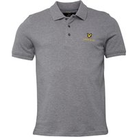 Lyle And Scott Vintage Mens Polo Mid Grey Marl