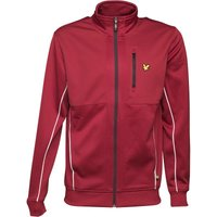 Lyle And Scott Vintage Mens Riley Track Jacket Light Claret Red