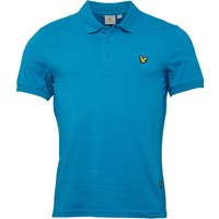 Lyle And Scott Vintage Mens Murray Short Sleeve Polo Peacock Blue