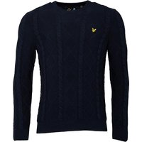 Lyle And Scott Vintage Mens Crew Neck Cable Jumper Navy