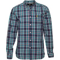 Lyle And Scott Vintage Mens Check Shirt Navy