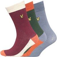 Lyle And Scott Vintage Mens Multi Three Pack Socks Assorted