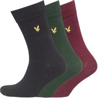Lyle And Scott Vintage Mens Plain Three Pack Socks Assorted