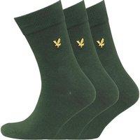 Lyle And Scott Vintage Mens Plain Three Pack Socks Leaf Green