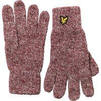 Lyle And Scott Vintage Mens Mouline Gloves Claret Jug