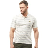 Lyle And Scott Vintage Mens Pick Stitch Polo Oatmeal Marl