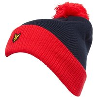 Lyle And Scott Vintage Mens Bobble Hat Red/Navy