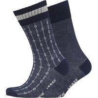 Levi's Mens Aztek Two Pack Socks Indigo